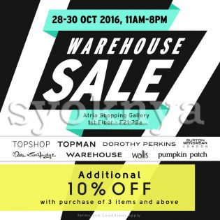 Sell  F3 Warehouse Sale (28-30 Oct 2016) ...