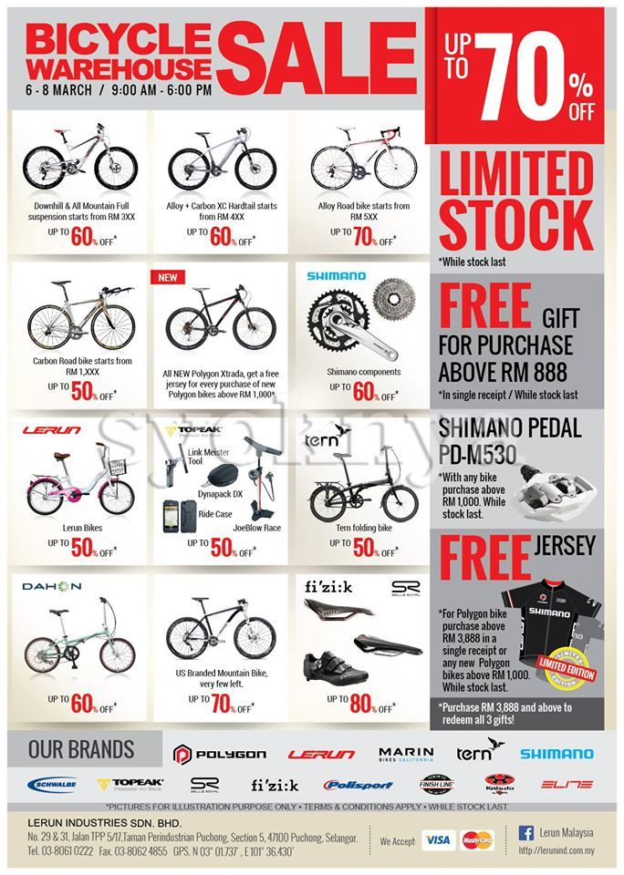 Sell Lerun Malaysia Bicycle Warehouse Sale 2015 For Bike