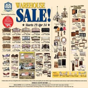 Sell warehouse sales american accents furniture warehouse for Furniture warehouse sale