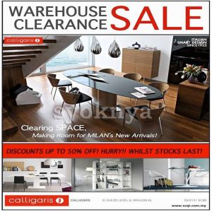 Sell warehouse sales calligaris italian furniture for Furniture w sale warehouse