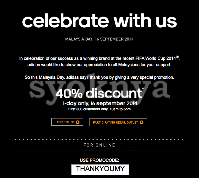 promotional code adidas site