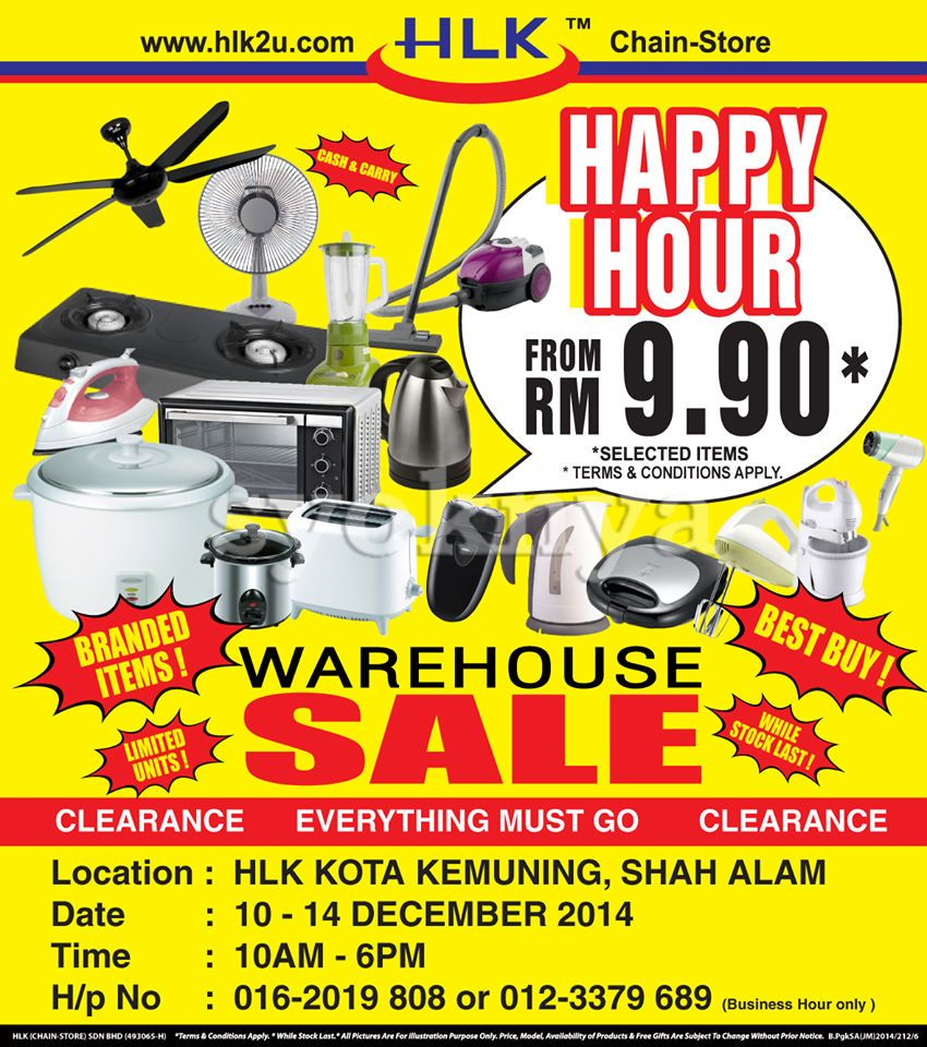 Kitchen Appliances Clearance Sale Malaysia