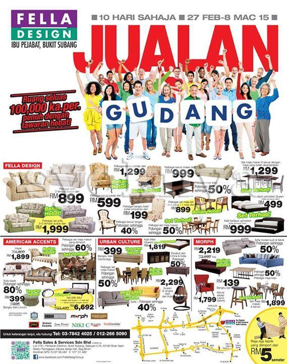 Sell fella design warehouse sale 2015 for furniture for Home decor 2015 malaysia
