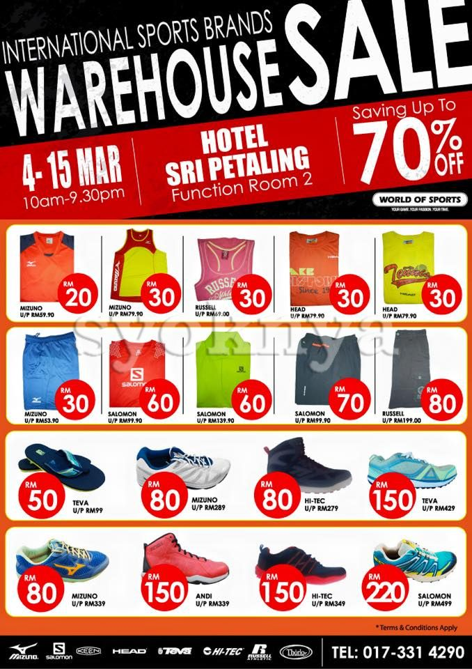 4632a6ba65a07f Sell World of Sports Warehouse Sale 2015 For Branded Sportwear ...
