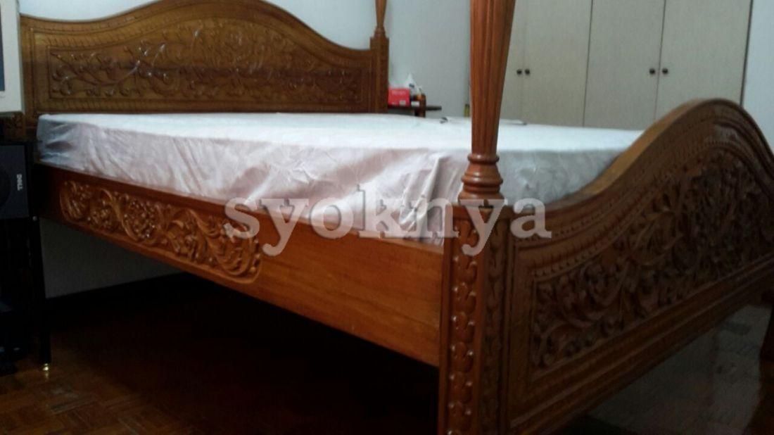 sell solid teak wood king size bed frame for sale. Black Bedroom Furniture Sets. Home Design Ideas