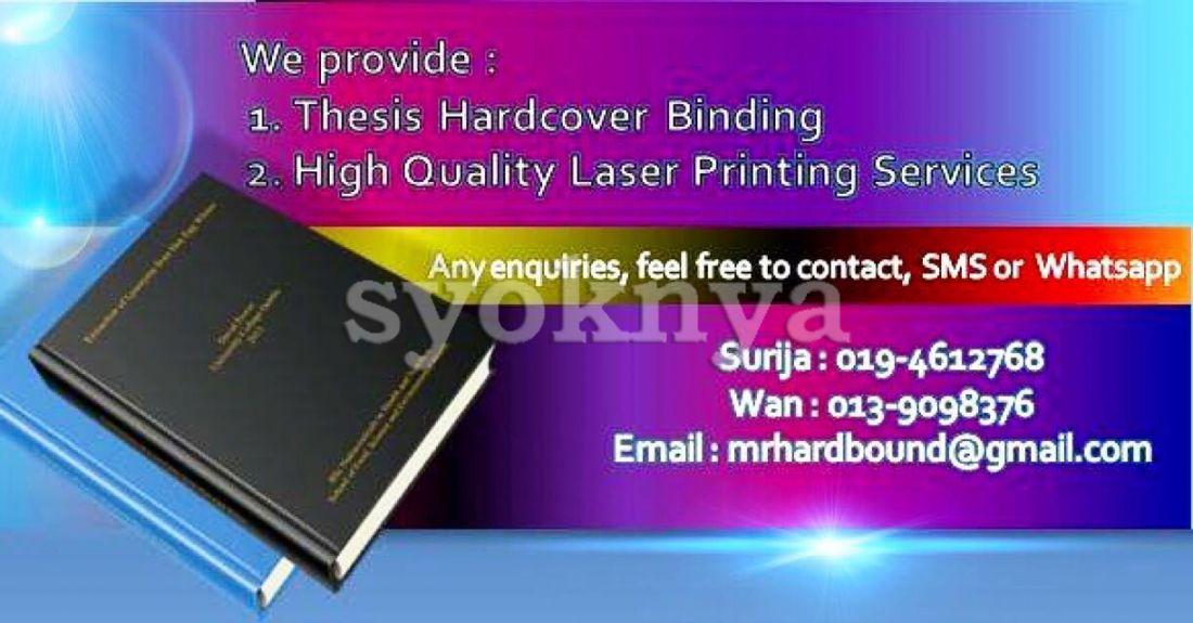 thesis dissertation binding