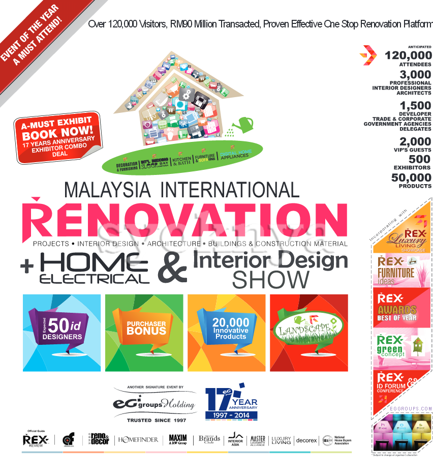 Interior Design Exhibitions 2014 sell malaysia international renovation expo 2014 home electrical