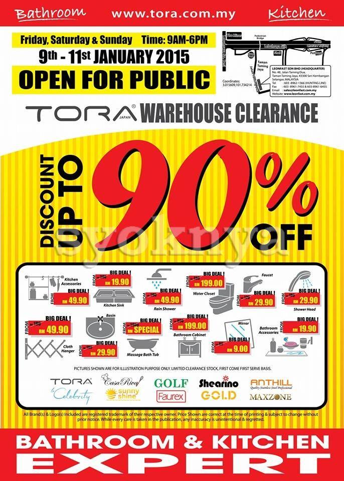 Bathroom Accessories Malaysia sell tora malaysia bathroom & kitchen expert warehouse sale 2015