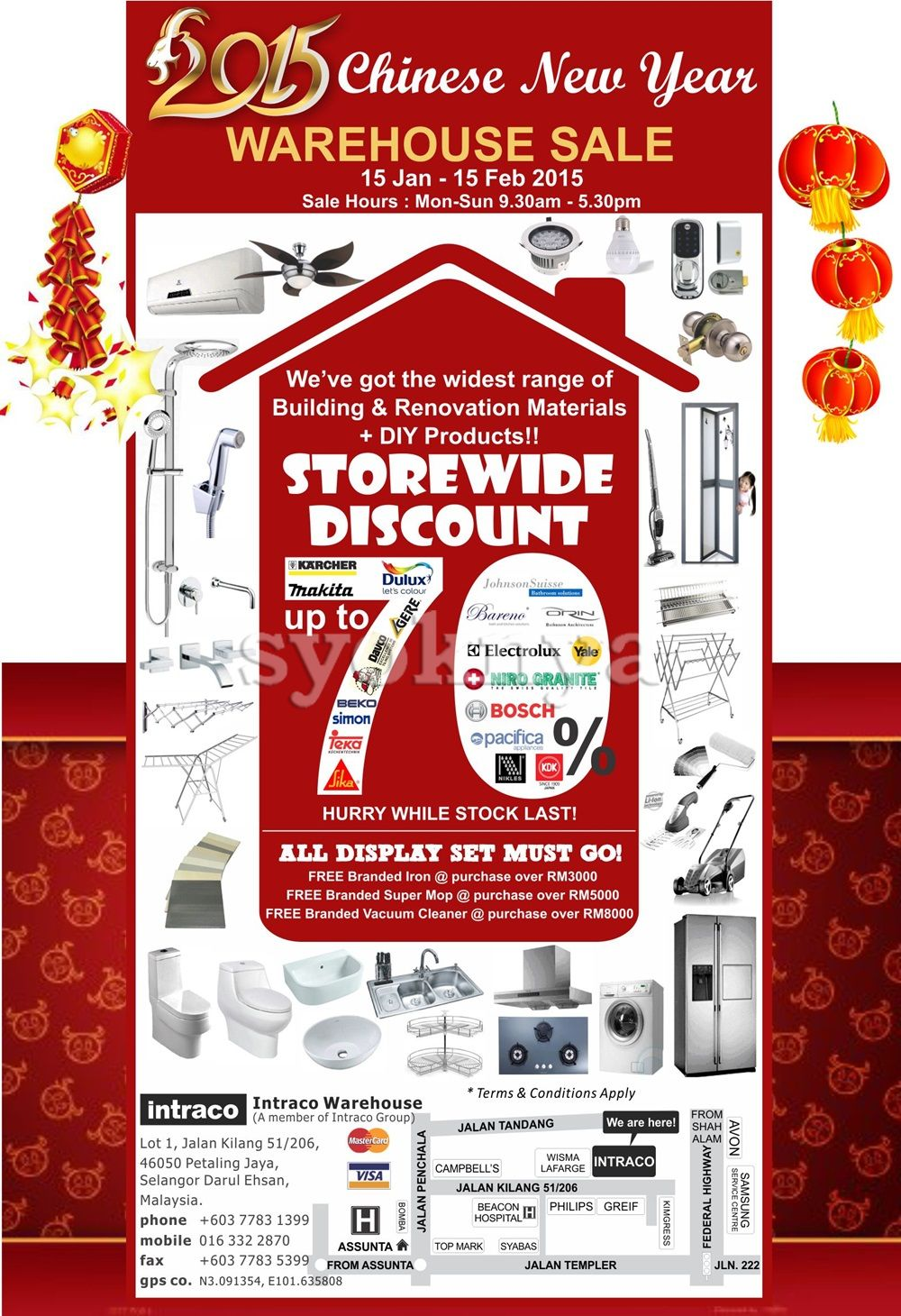 Sell Intraco Warehouse Chinese New Year Sale 2015 For Home