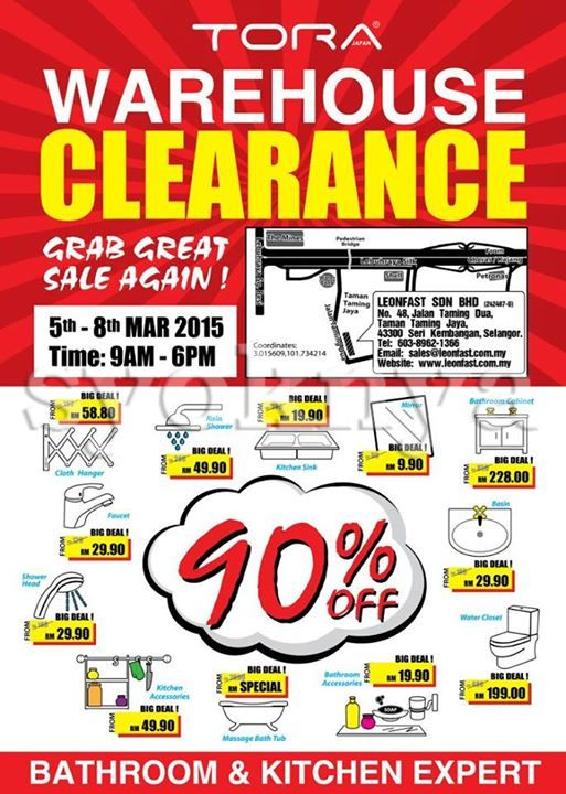 sell tora malaysia warehouse sale 2015 for bathroom kitchen