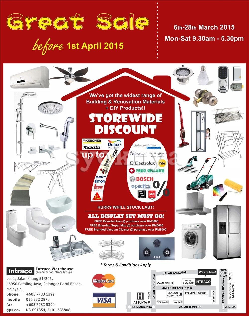 Sell Intraco Warehouse Sale 2015 For Home Improvement