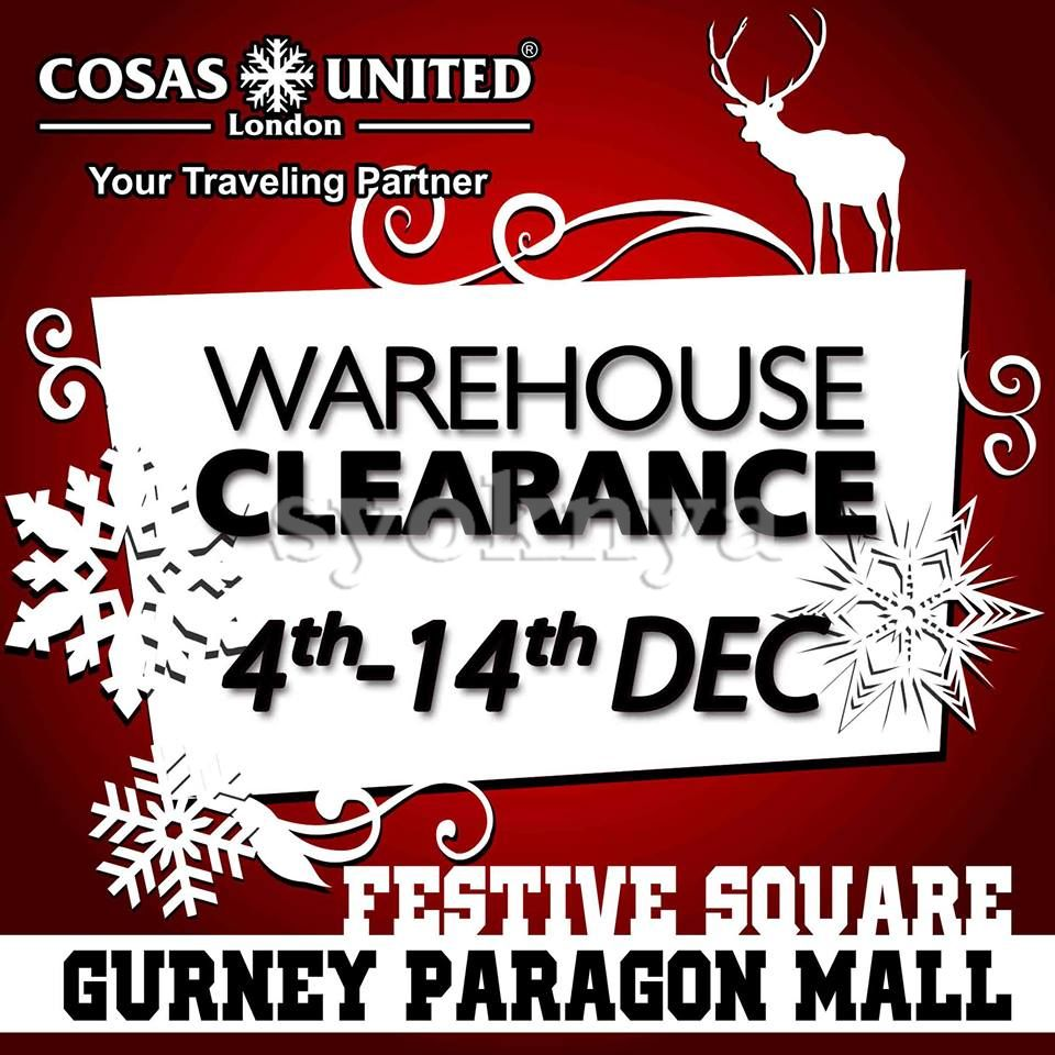 Sell Cosas United Warehouse Sale 2014 For Winter Wear Luggage